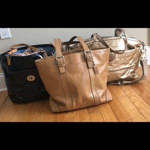 Used condition Coach bundle! 3 bags need some TLC